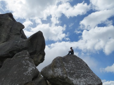 Rob was pretty good at climbing up the rocks at castle hill