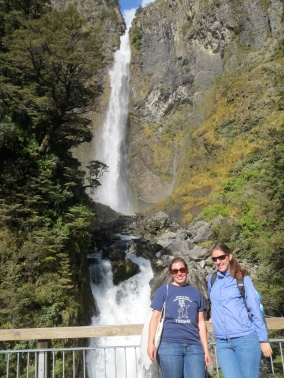 Stephanie and I at the waterfall