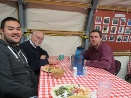 Brent, McBride and Alex at lunch