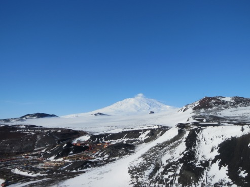 Mt Erebus from the top of Ob Hill. We can see the other side of Erebus from LDB.