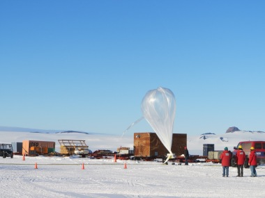 A close-up of the HICAL balloon