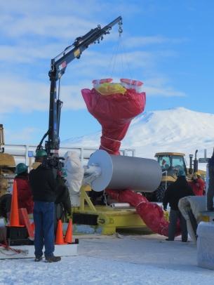 The balloon wrapped around the spool