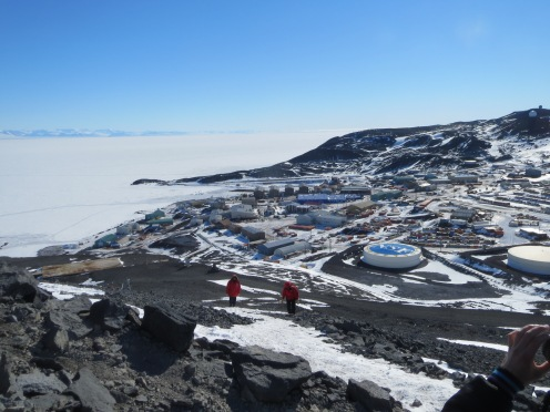 Looking down at McMurdo from the top of Ob Hill